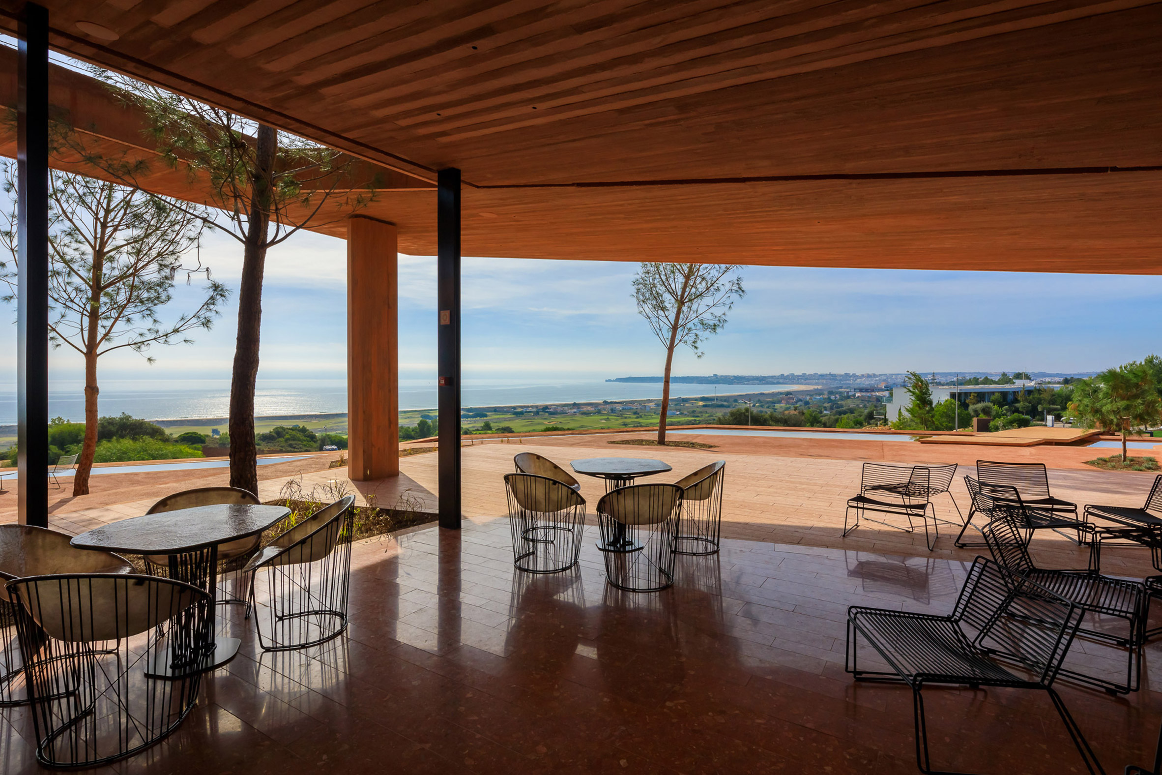 Furniture at Palmares Clubhouse by RCR Arquitectes