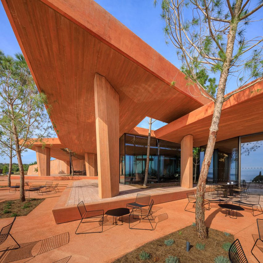 Roof of Palmares Clubhouse by RCR Arquitectes
