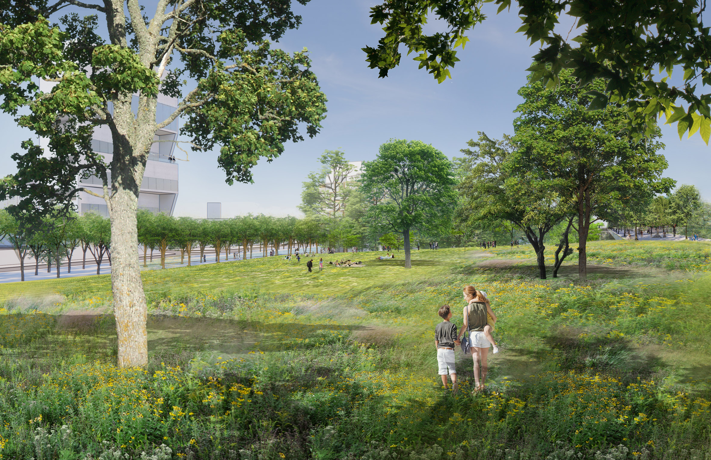 The Parco Romana Green Neighbourhood will include a large public park