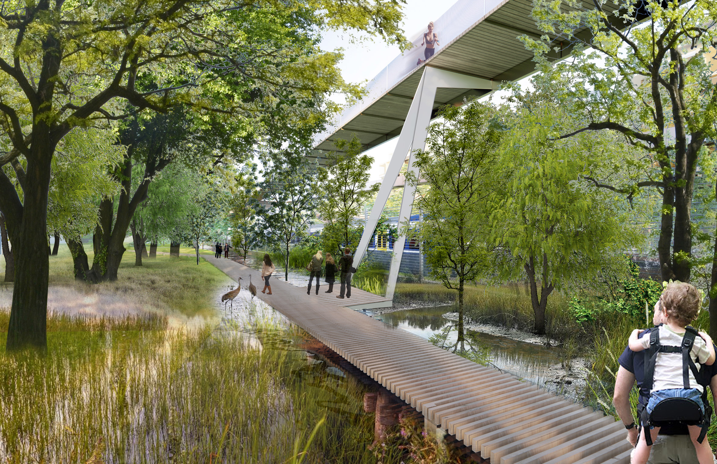 The Parco Romana Green Neighbourhood will have elevated walkways