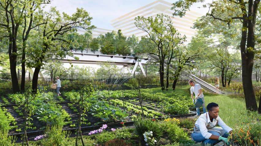 It has community gardens