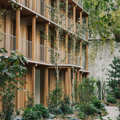 Paris residential building made from wood