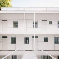 White flats in Paris