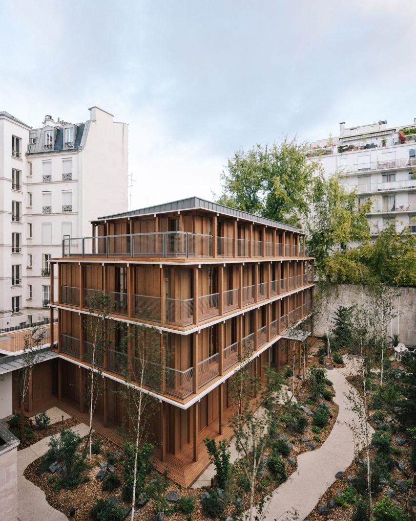 Wooden building in Paris