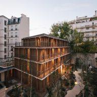Wooden apartment block