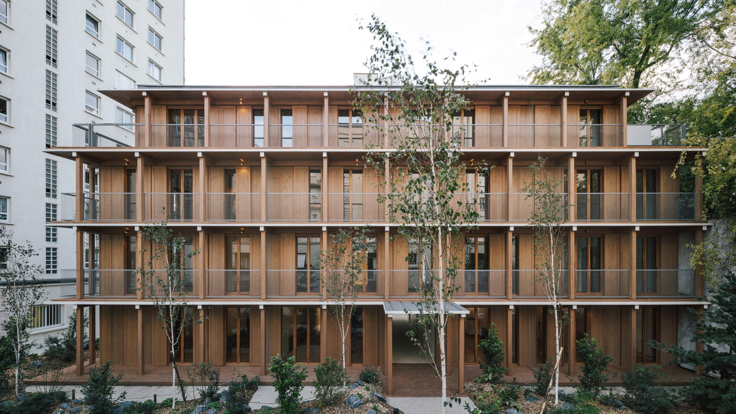 Mars Architectes creates wooden apartment block in Paris