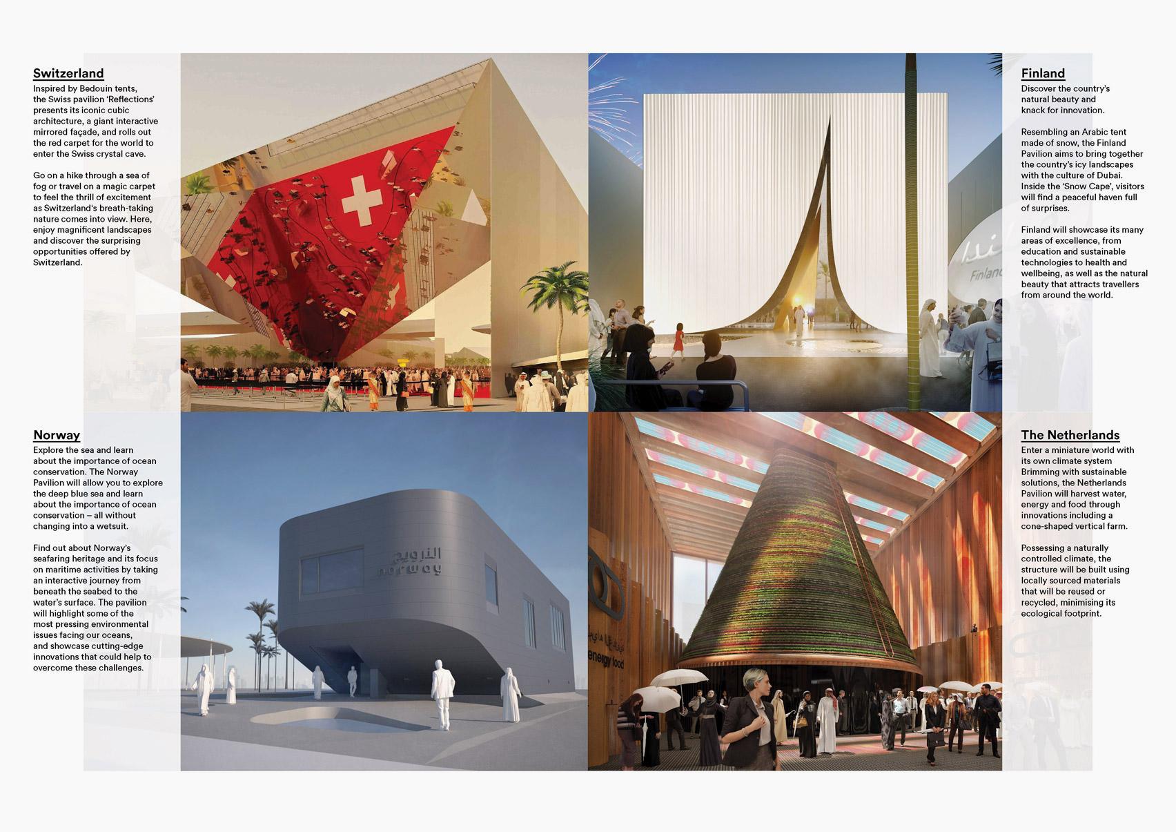 Four Expo 2020 Dubai pavilions