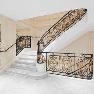 Pershing Hall staircase
