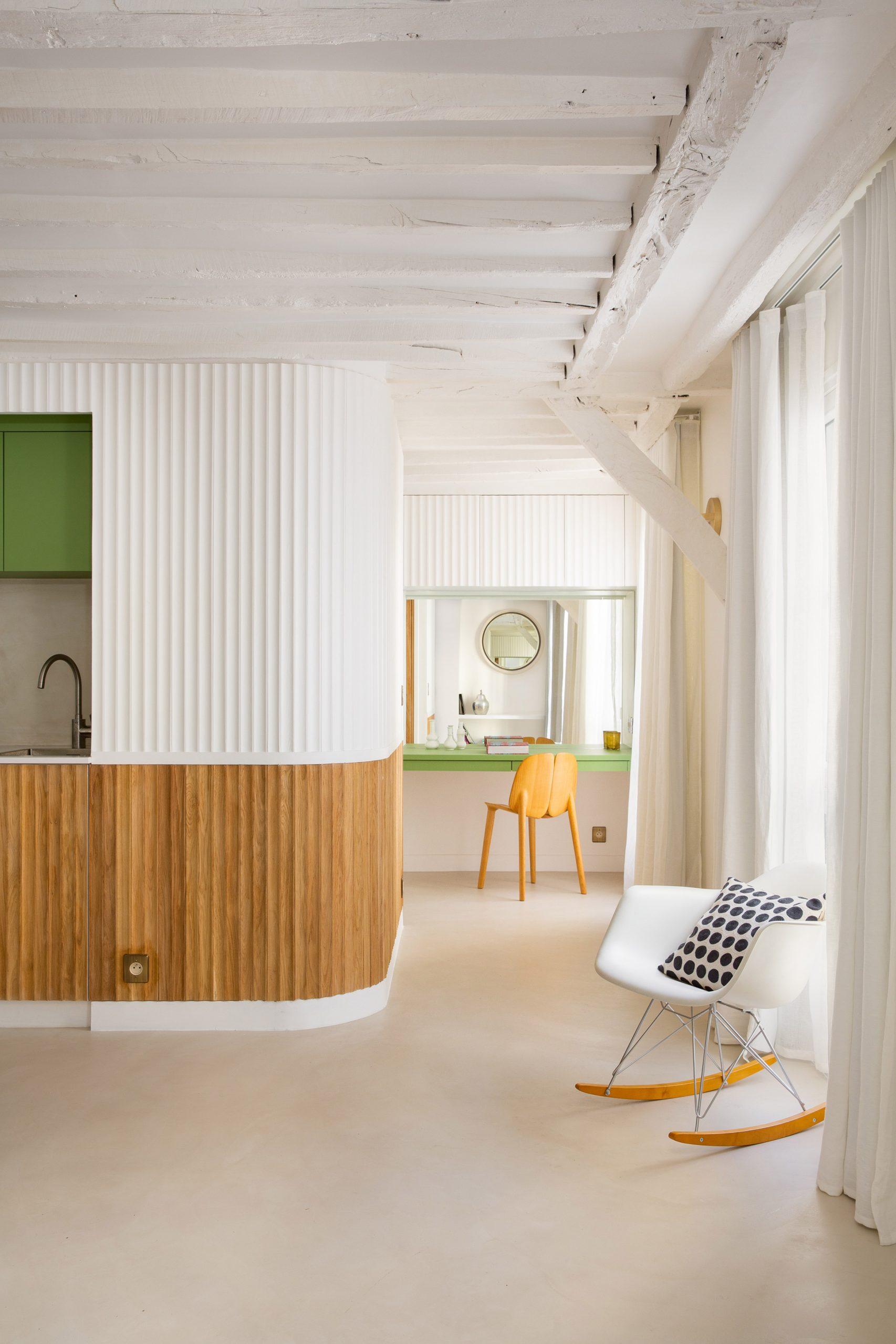 White walls run throughout the space by Pierre-Louis Gerlier Architecte