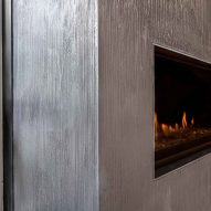 Purometallo coating by Ideal Work on a fireplace