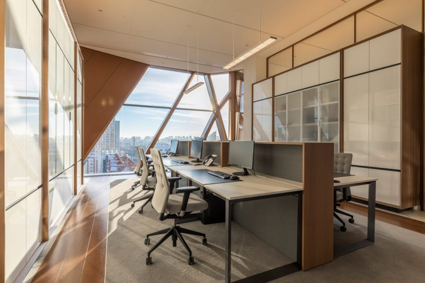The enclosed office space