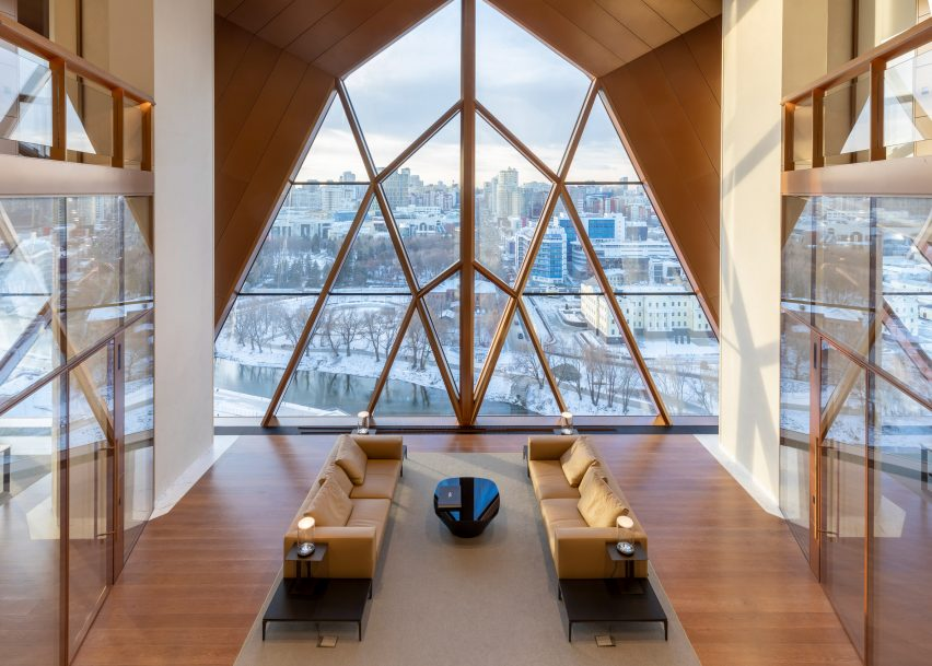 Breakout space with views over Yekaterinburg