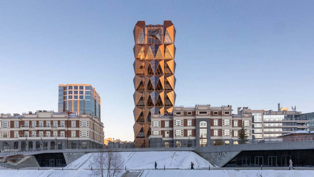 Foster + Partners reveals copper-coloured office in Yekaterinburg