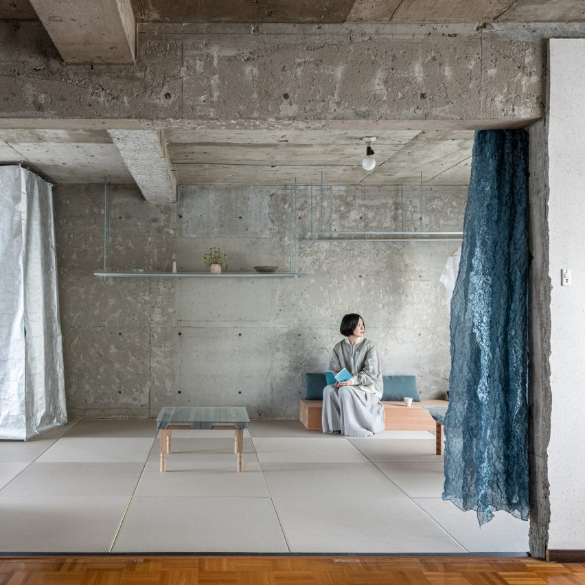 Japanese-style reception room by Nanometer Architecture