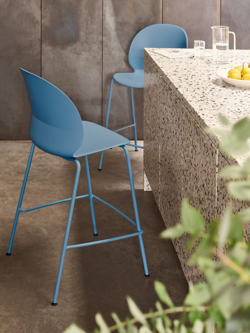 Pale blue N02 Recycle chairs in a social area