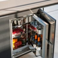 A fridge can also be installed into the unit