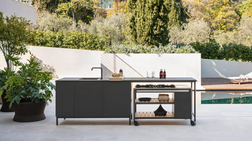 Norma outdoor kitchen system by Roda