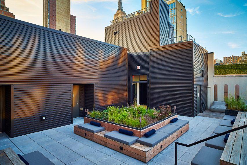 Piet Oudolf rooftop garden in New York