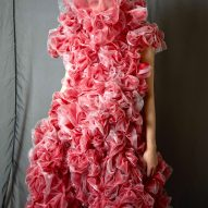 The designer used fabric like tulle