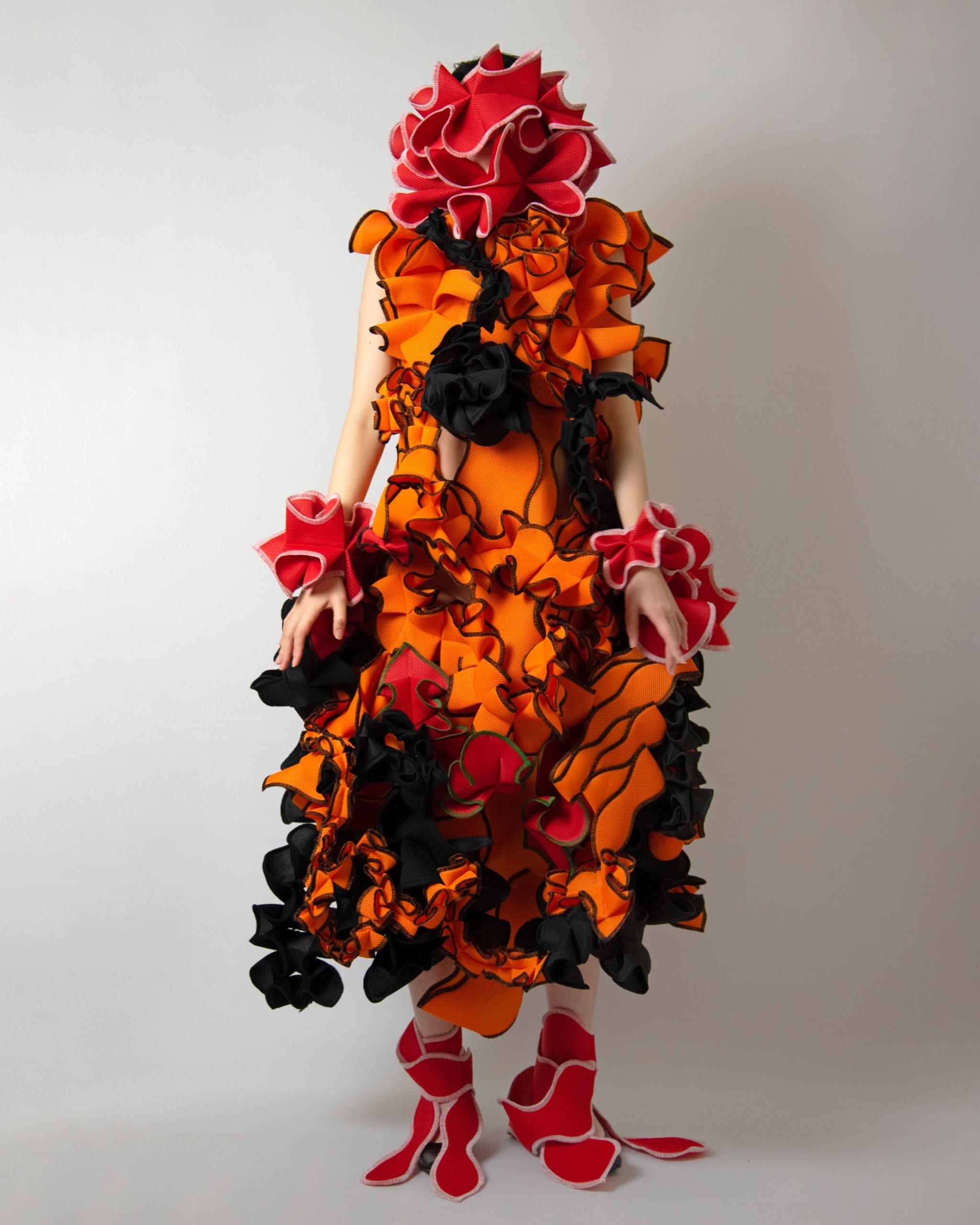 Contrasting colours are combined by Ryunosuke Okazaki