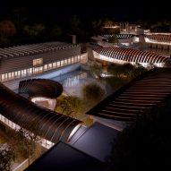 A rendering of Crystal Bridges Museum of American Art