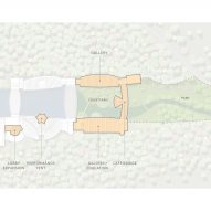 An aerial plan of the museum's new structures