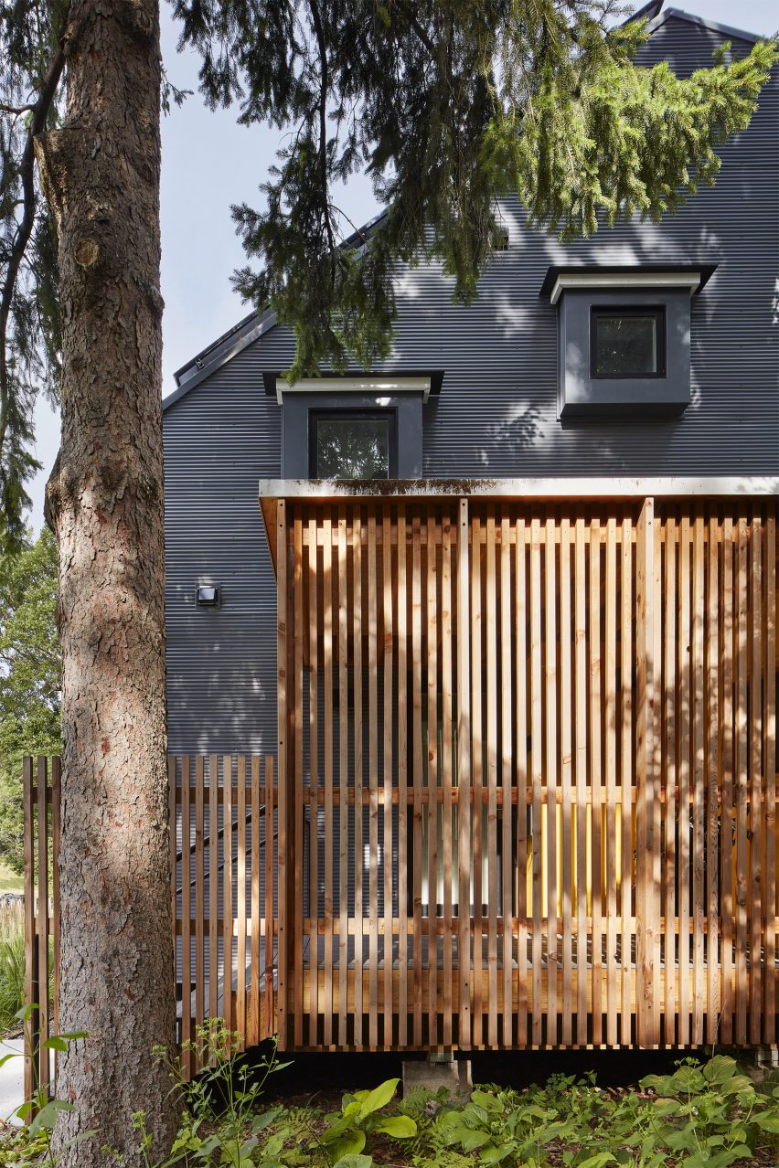 Salmela Architect planted native plant species in the garden