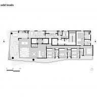 Floor plan: odd levels