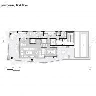 Floor plan: penthouse, first floor