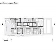 Floor plan: penthouse, upper floor