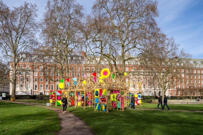 See Through pavilion by Morag Myerscough