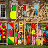 The bamboo See Through pavilion by Morag Myerscough