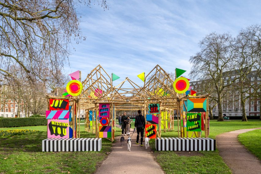 A bamboo pavilion in London
