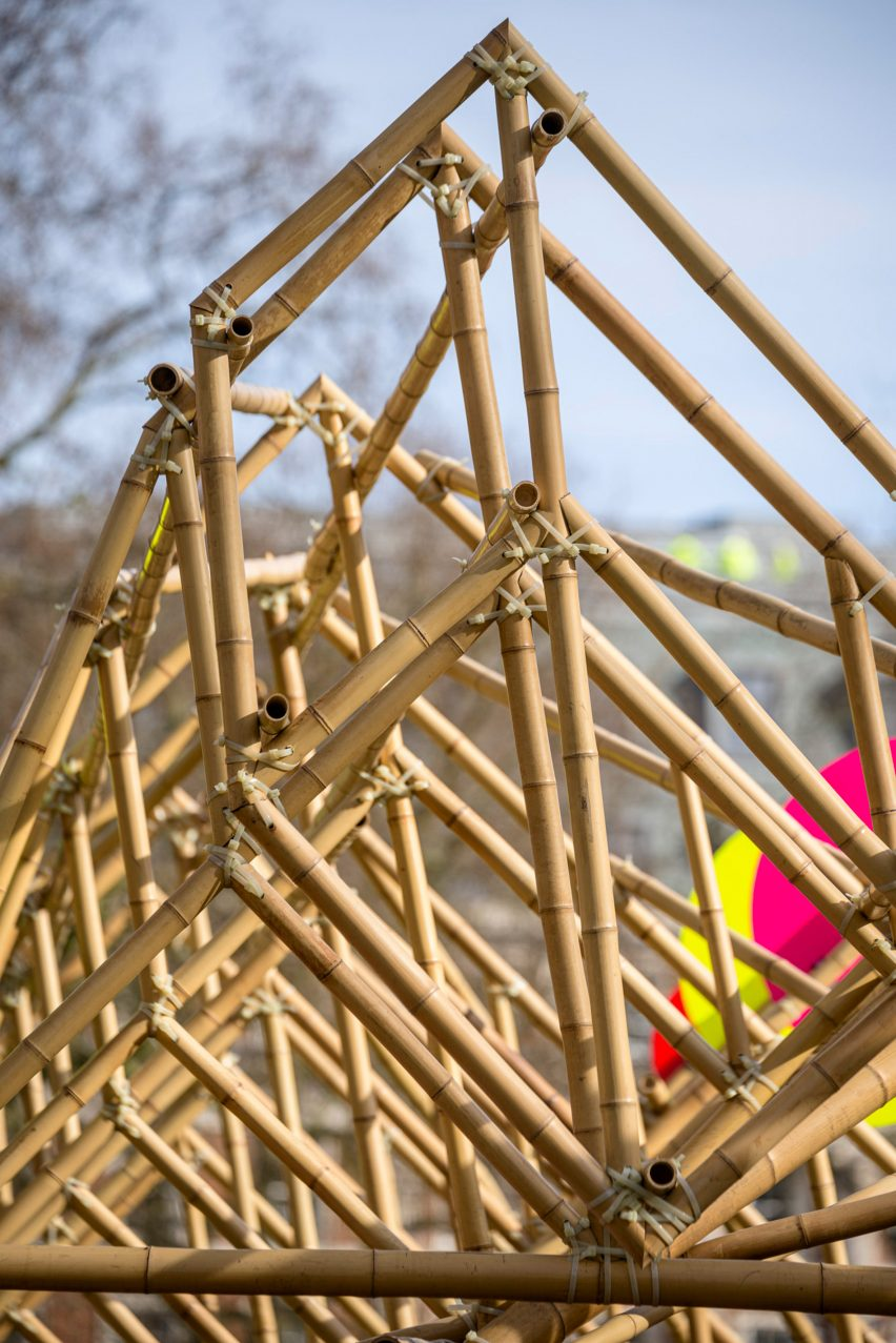 A bamboo structure