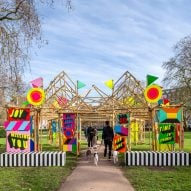 "Morag Myerscough designs bamboo pavilion to bring ""unexpected joy"" to passersby"