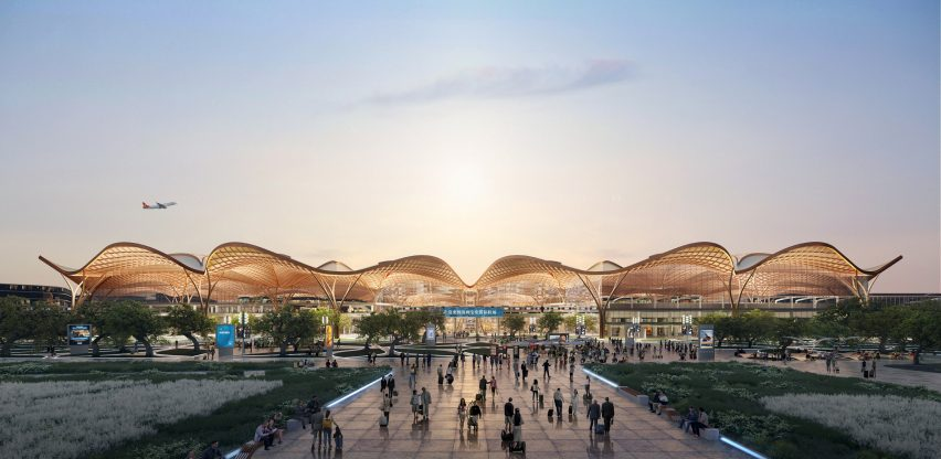 A visual of a new transport hub in Shenzhen