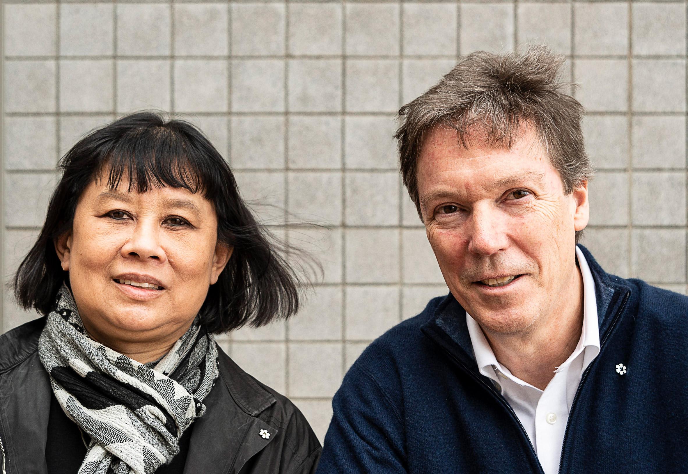 Brigitte Shim and A. Howard Sutcliffe portrait