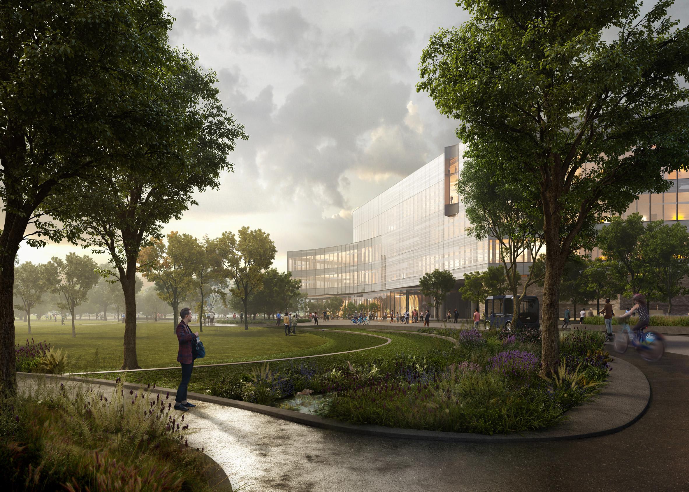 Architecture firm Snøhetta designed the project