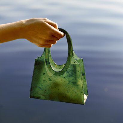 Green Sonnet155 bag by Lobke Beckfeld and Johanna Hehemeyer-Cürten