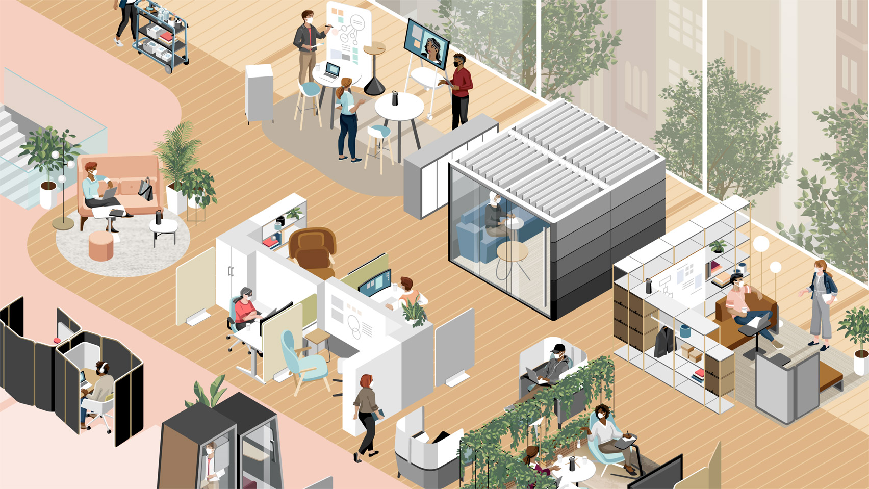 Illustration for Steelcase Global Report