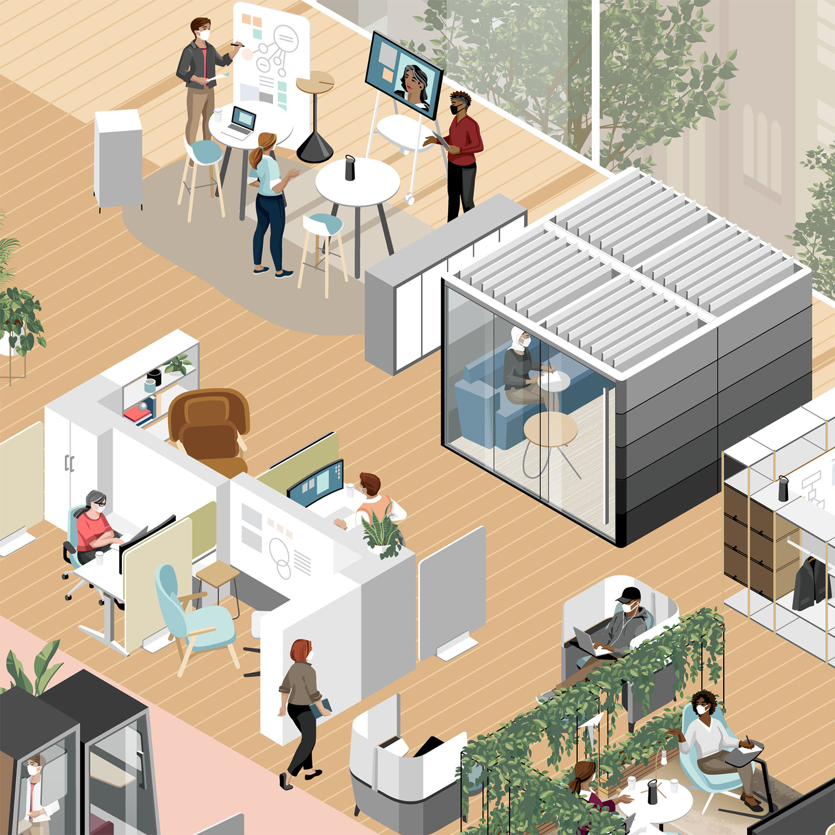 """Home working set to be replaced by """"emerging hybrid model"""" finds Steelcase"""