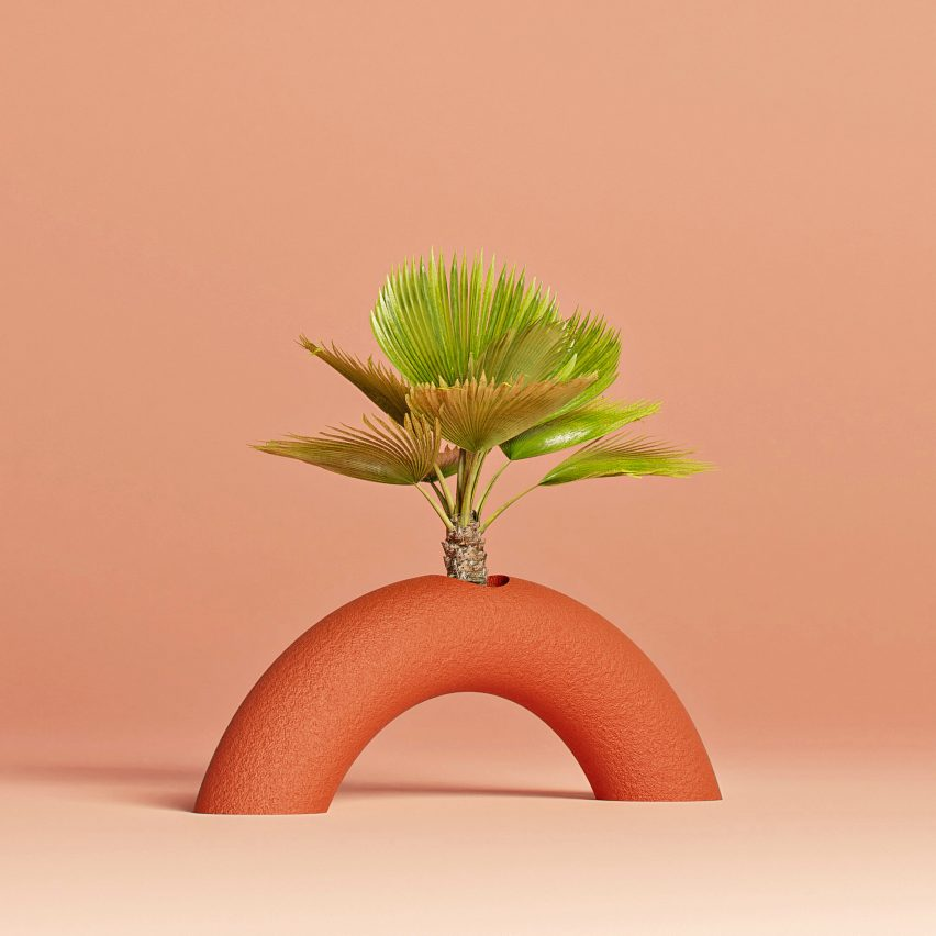 Plants protrude from the objects by Studio Hai