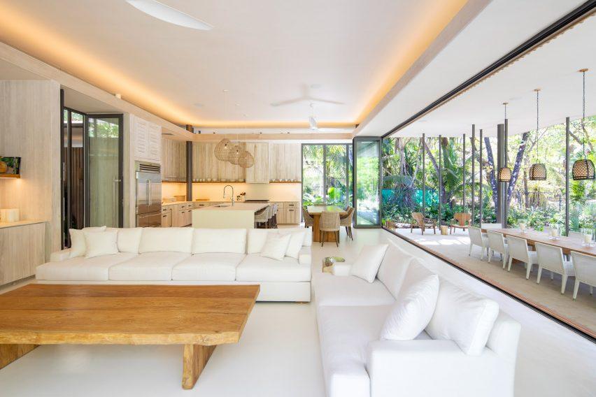 Sirena House has open-plan spaces