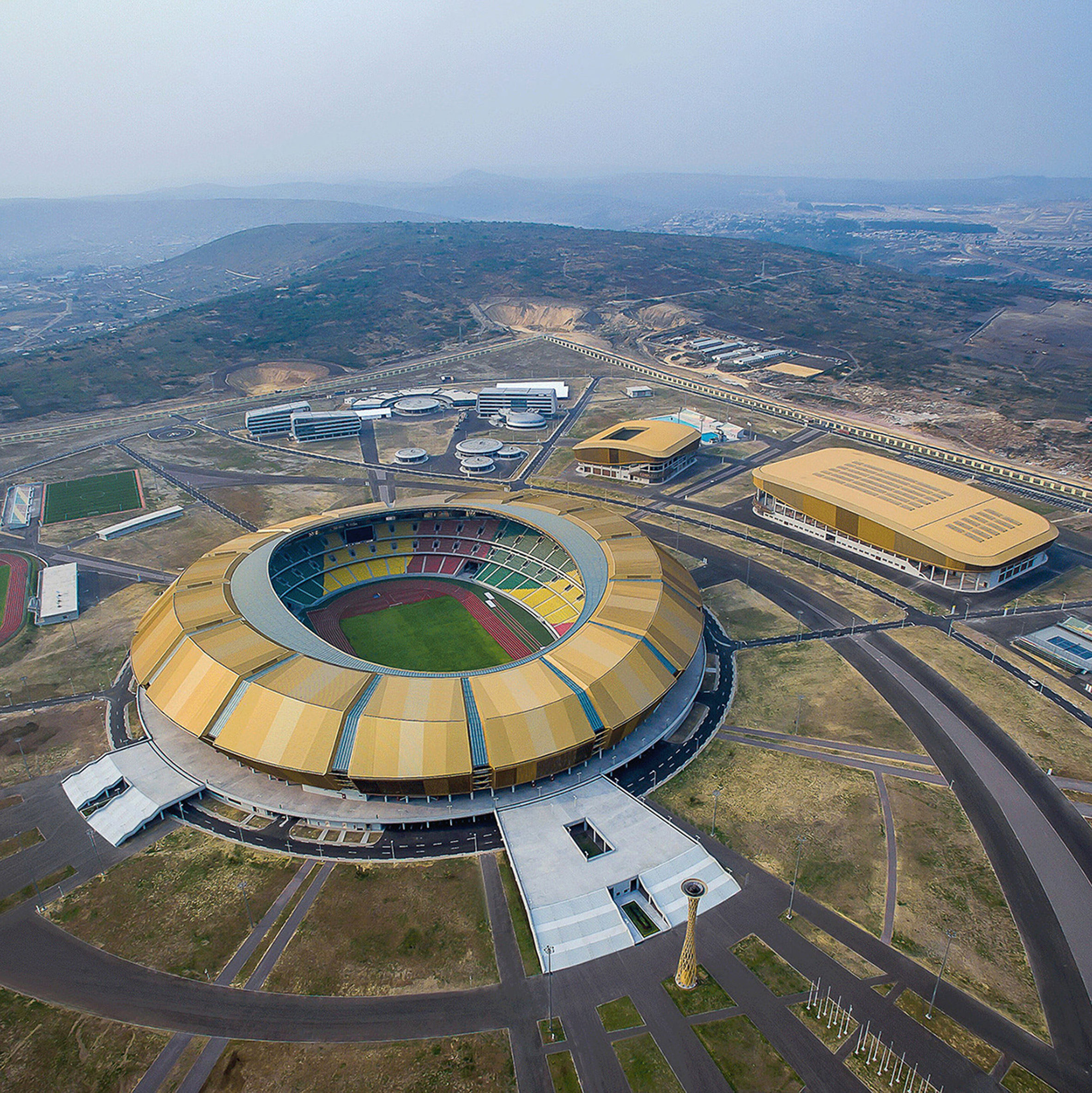 Complexe Sportif de la Concorde, Brazzaville, by China State Construction and Engineering Corporation