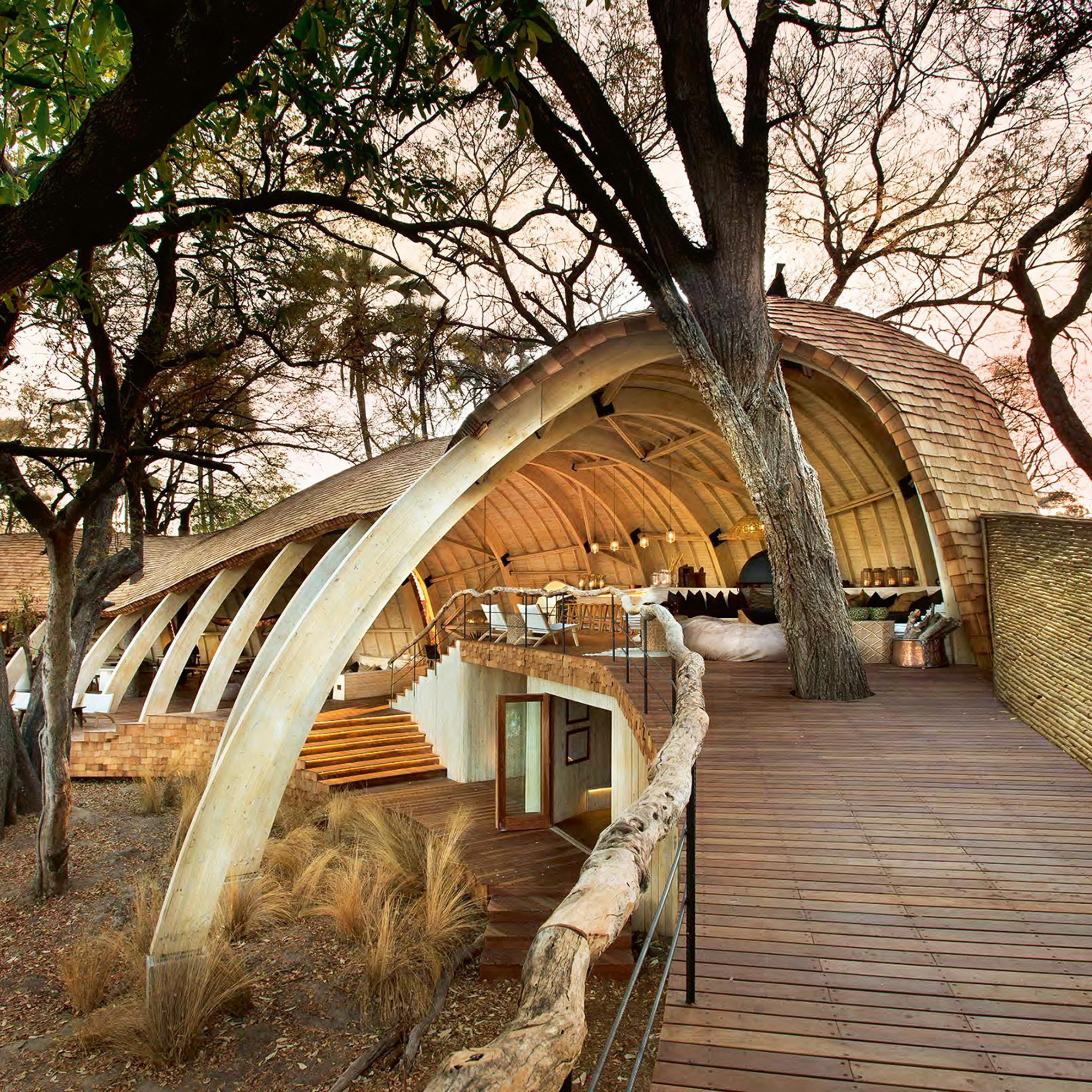 Sandibe Okavango Safari Lodge, Northwest District, by Michaelis Boyd Associates