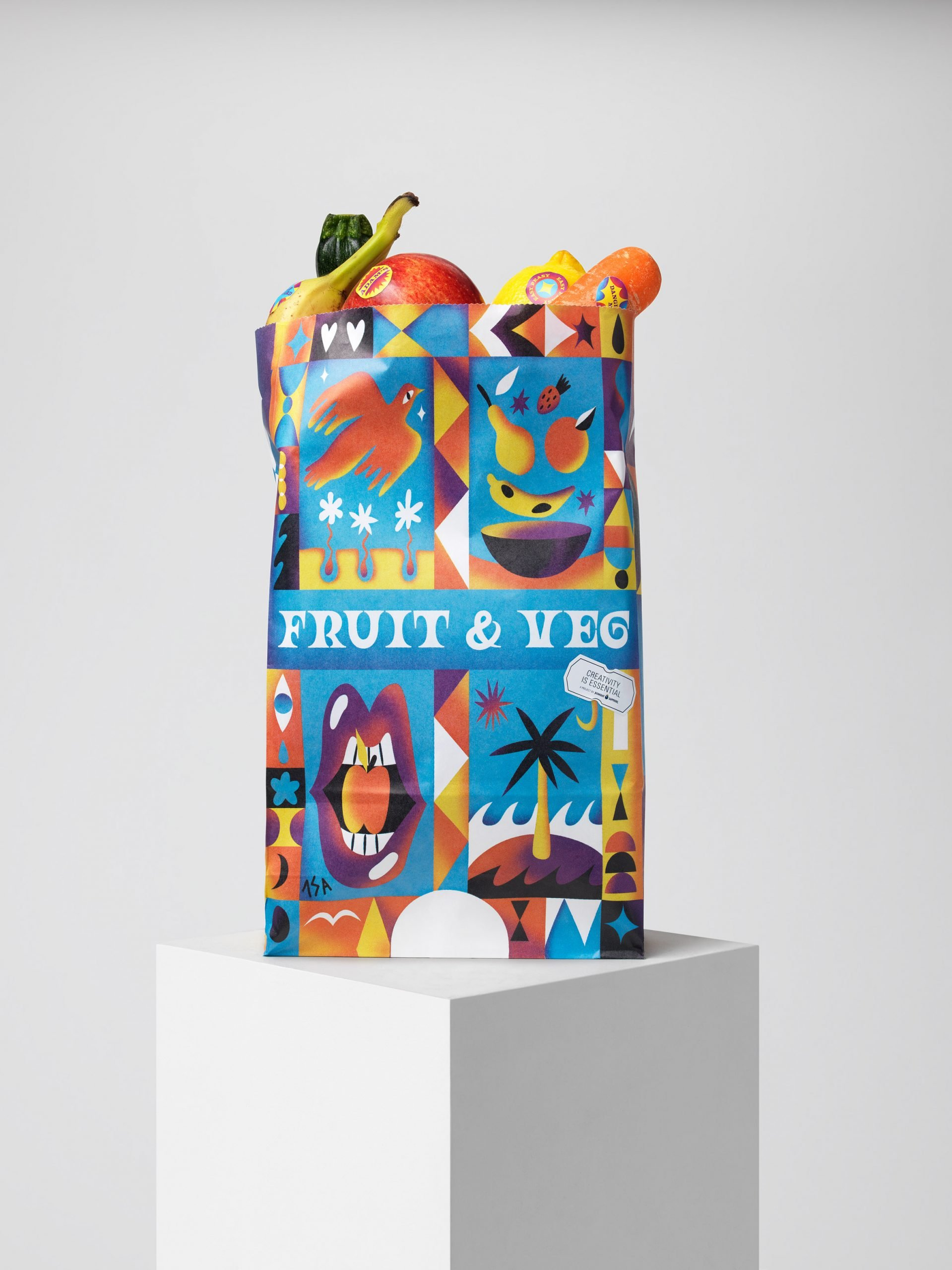 Fruit and veg stickers by Isabelle Lima