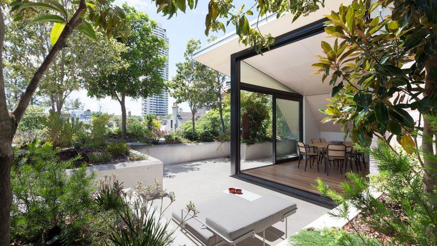 Rooftop garden in Sydney