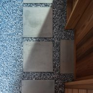 Paving slabs inside a small Japanese house