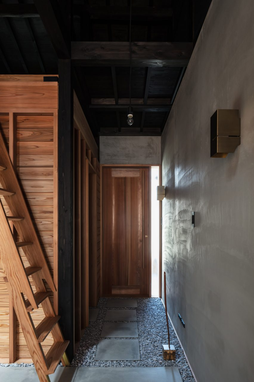 A corridor in a Japanese house