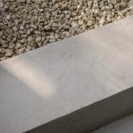 Concrete detail of a garden terrace